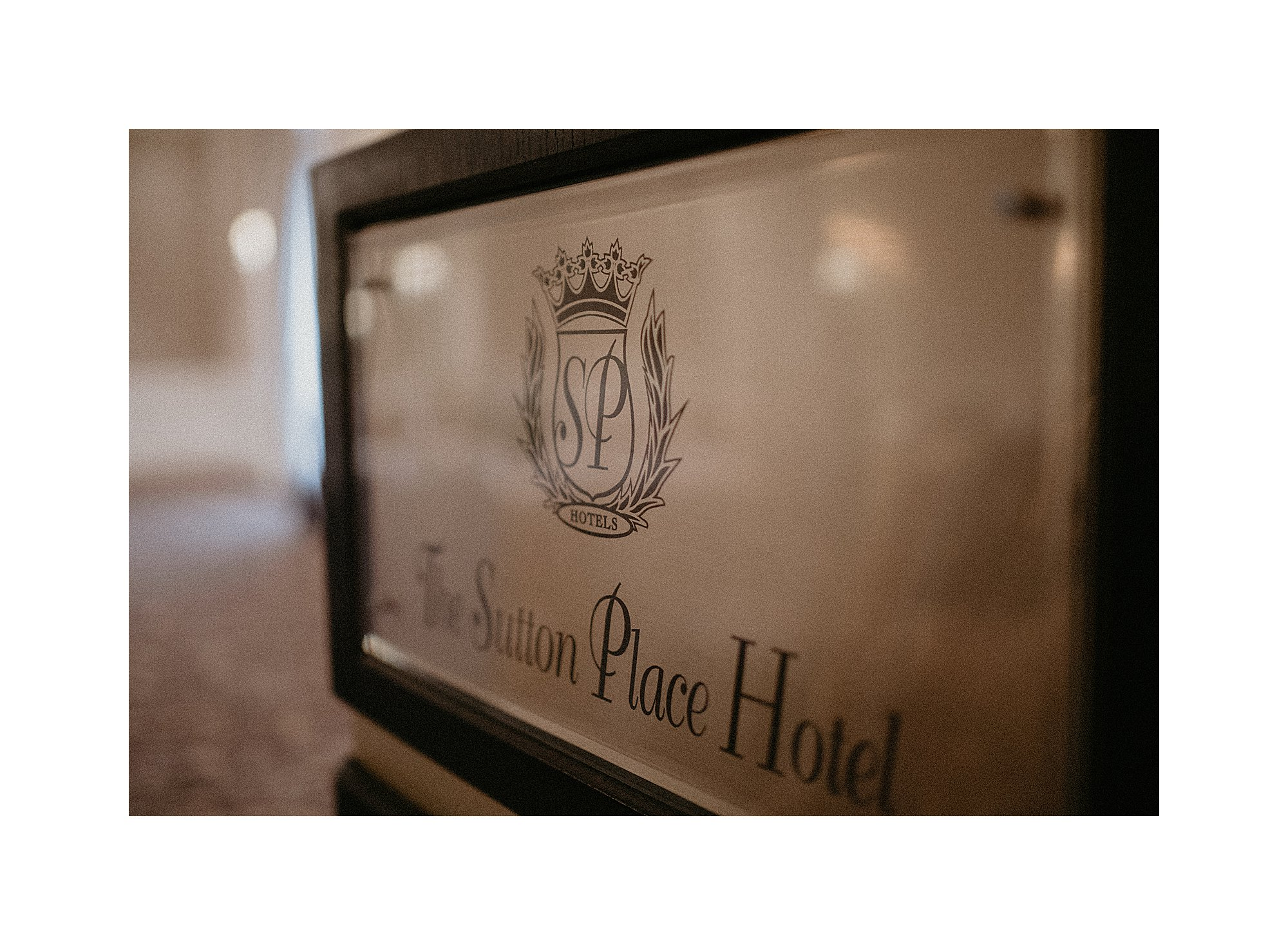 The Sutton Place Hotel Sign
